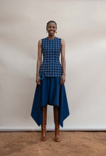 Load image into Gallery viewer, MMUSOMAXWELL HANKERCHIEF SKIRT KID MOHAIR WOOL NAVY