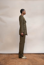 Load image into Gallery viewer, MMUSOMAXWELL WRAP TAILORED JACKET WOOL OLIVE