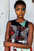 Load image into Gallery viewer, EZOKHETHO THEMBA TRAPEZE DRESS MULTI-COLOUR