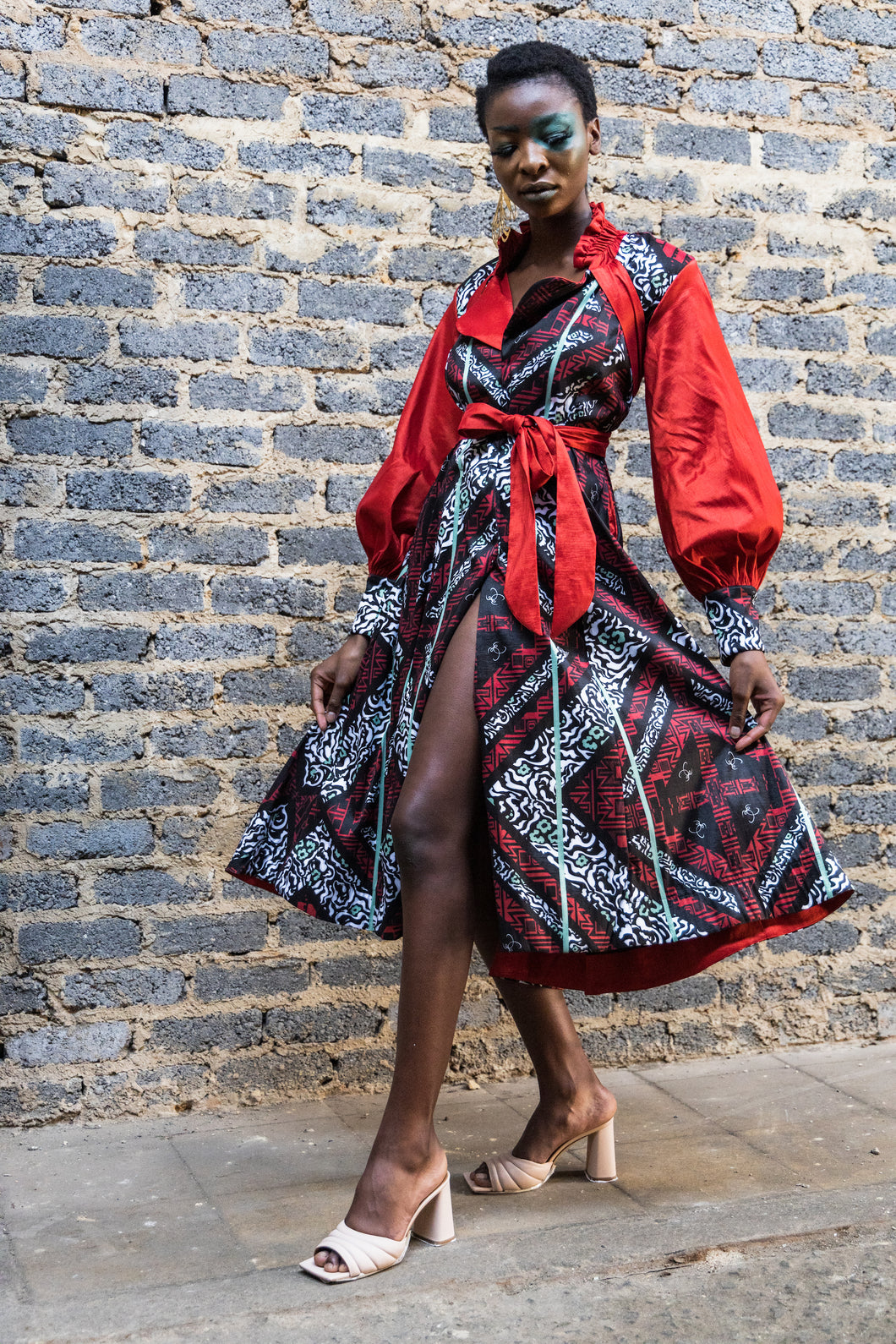 EZOKHETHO THE ZOE COAT DRESS MULTI-COLOUR