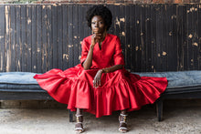 Load image into Gallery viewer, EZOKHETHO ULUTHANDO RED DRESS