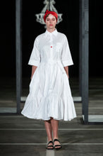 Load image into Gallery viewer, EZOKHETHO ULUTHANDO SHIRT DRESS WHITE
