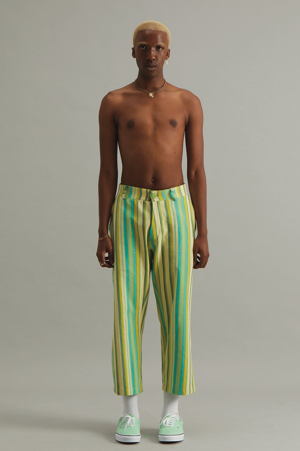 GOOD GOOD GOOD CROPPED TROUSER - SEAWEED