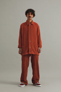 GOOD GOOD GOOD FULL LENGTH TROUSERS - NAMIB ORANGE HERRINGBONE
