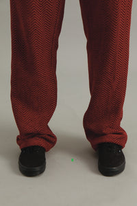 GOOD GOOD GOOD FULL LENGTH TROUSERS - RED KUBA ZAG