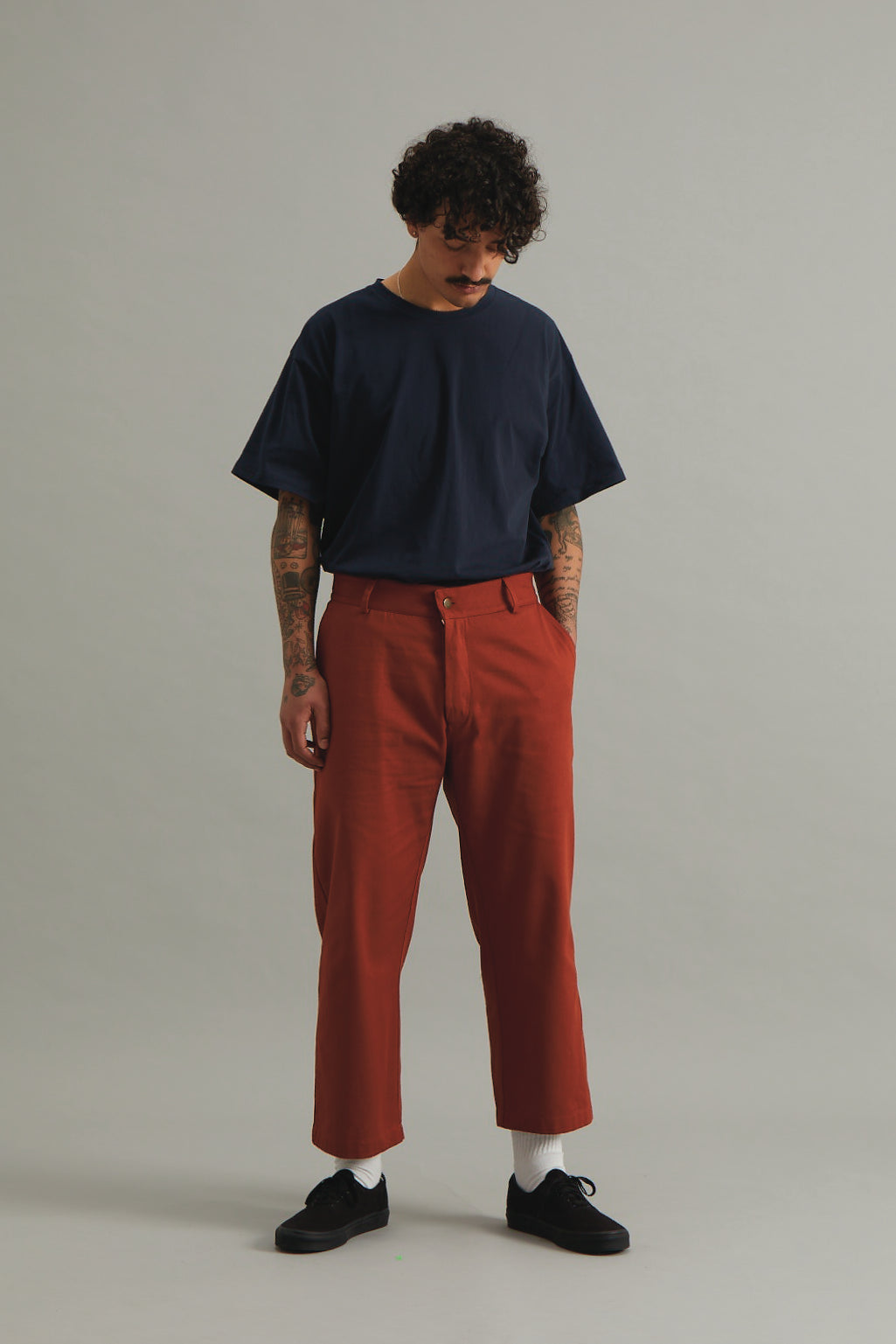 GOOD GOOD GOOD CROPPED TROUSER - RUST