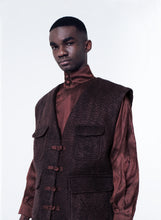Load image into Gallery viewer, LUKHANYO MDINGI KID MOHAIR XAVIER UTILITY MENS JACKET