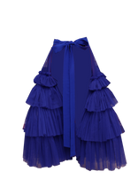 Load image into Gallery viewer, JUDITH ATELIER NZINGA TULLE RUFFLE HALF BODY SKIRT BLUE