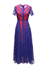 Load image into Gallery viewer, JUDITH ATELIER SOPHIE SEAM BINDED SHEER TULLE DRESS BLUE