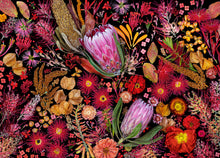 Load image into Gallery viewer, 1000 piece puzzle featuring flowers in shades of red, orange, pink and brown
