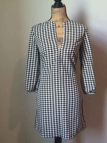 Avery Dress~Houndstooth~STR