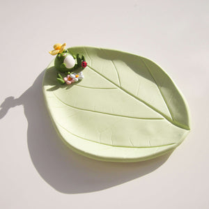 Frog Trinket Dish - Flower Hat