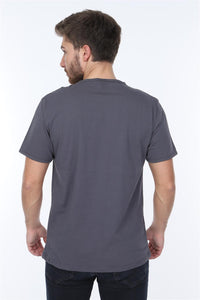 Grey Technology Nostalgia Printed Cotton Men T-Shirt