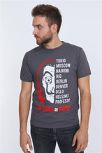 Load image into Gallery viewer, Grey Anthracite La Casa de Papel (Money Heist) Printed Cotton T-Shirt Tee Top Timya Wholesale S-Ponder