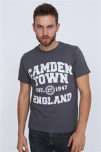 Load image into Gallery viewer, Anthracite Camden Town Printed Cotton Men T-Shirt Tee Top Timya Wholesale S-ponder