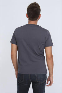 Anthracite Camden Town Printed Cotton Men T-Shirt