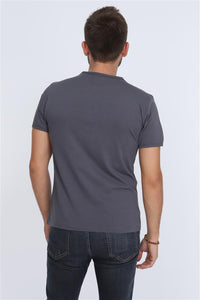 Grey Never Enough (Irony) Printed Cotton T-shirt