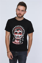 Load image into Gallery viewer, Black Skull Queen Printed Cotton T-shirt Tee Top Timya Wholesale S-Ponder