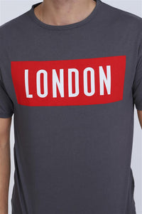 Grey London Printed Cotton T-shirt, Tee, Top Timya Wholesale S-Ponder