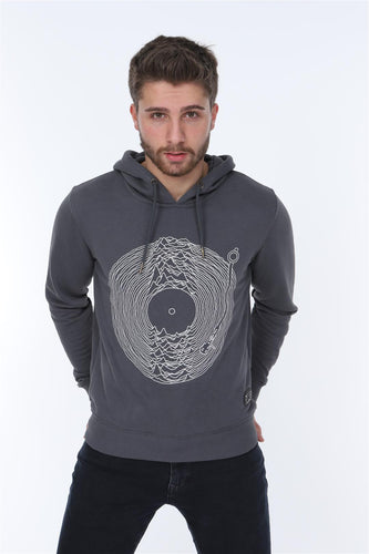 Grey Joy Division Printed Cotton Hoodie Timya Wholesale S-Ponder
