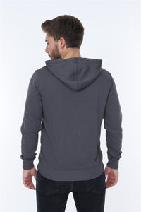 Grey Joy Division Printed Cotton Hoodie
