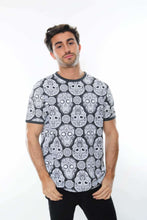 Load image into Gallery viewer, Grey Full Mexican Skull Printed Cotton T-Shirt Tee Top Timya Wholesale S-Ponder
