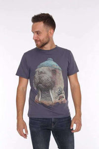 Grey Walrus Animal Printed Cotton Men T-Shirt - S-Ponder Shop