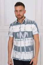 Load image into Gallery viewer, Thick Stripped Coloured Stone Washed Cotton Men Polo T-Shirt Timya Wholesale S-Ponder