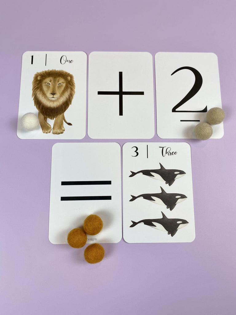 Nature's 123 Flashcards - Light Lion