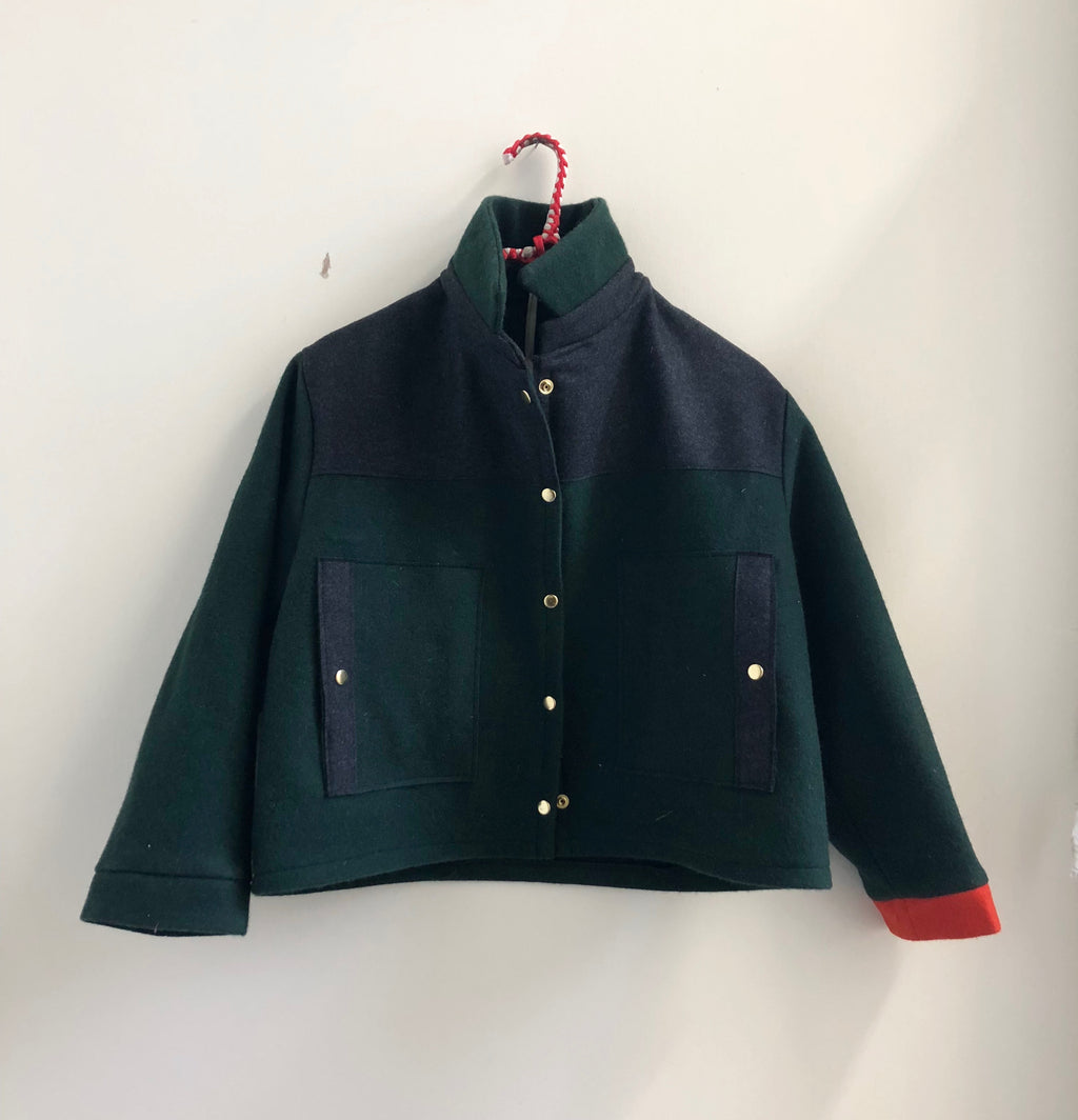 the box jacket-- forest green