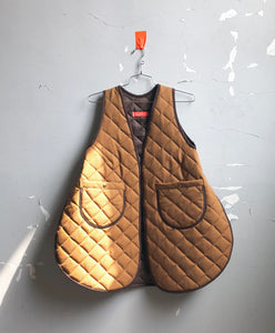 quilted canvas work vest