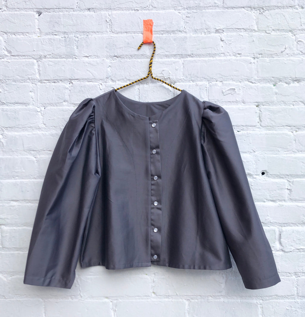 the Pearl blouse-- steel