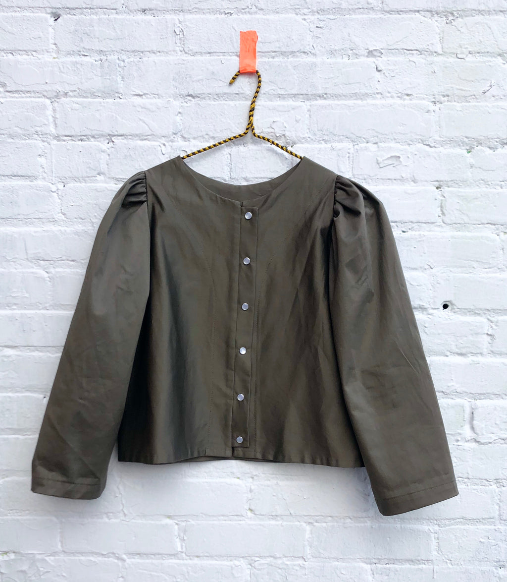 the Pearl blouse-- pewter