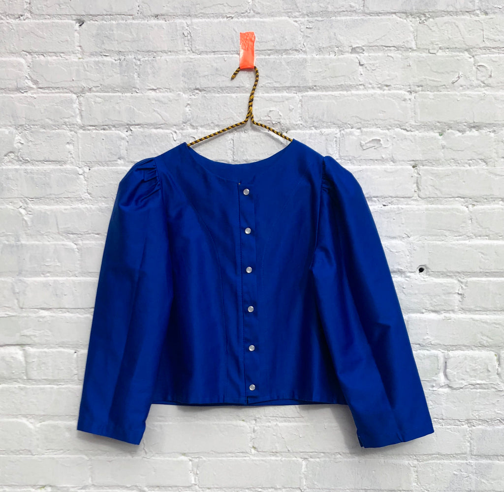 the Pearl blouse-- peacock