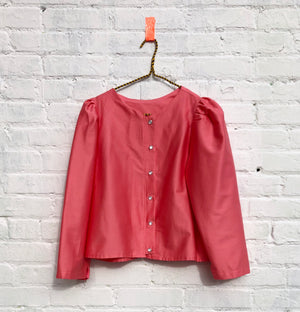 the Pearl blouse-- magnolia