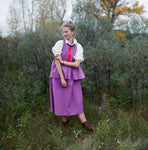 the lollipop frock in purple/geranium
