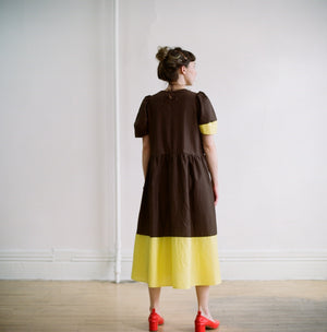 the modest frock (peat/citron)