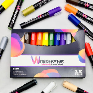 Acrylic Paint Pens, dual nib | Set of 12