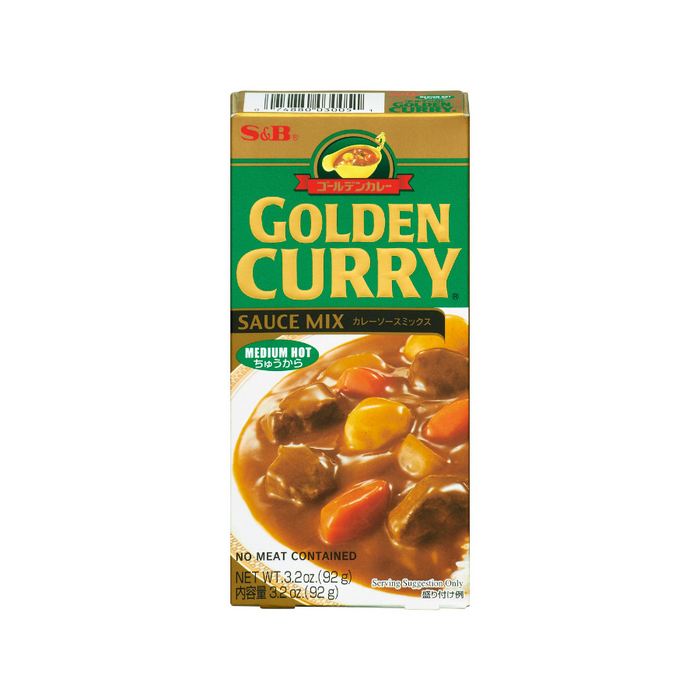 CURRY GOLDEN MEDIUM HOT 3.2OZ S&B