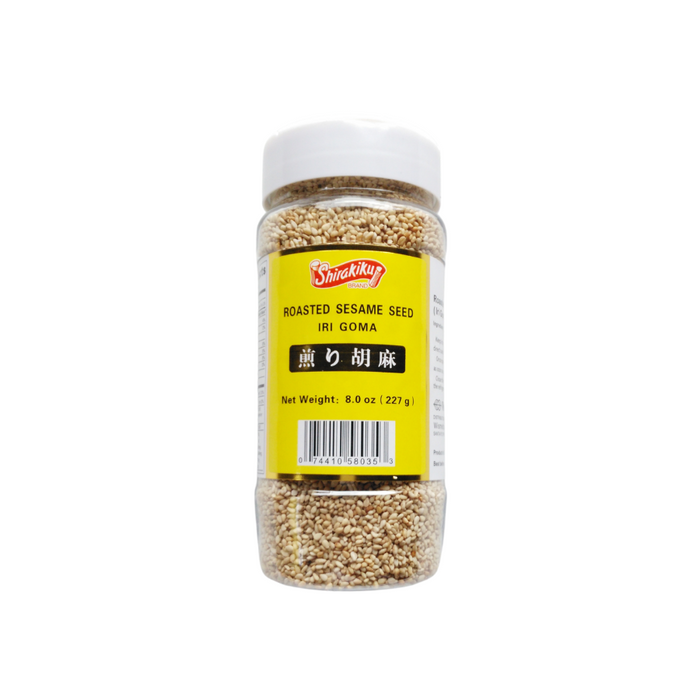 ROASTED WHITE SESAME SEED BOTTLE 8OZ