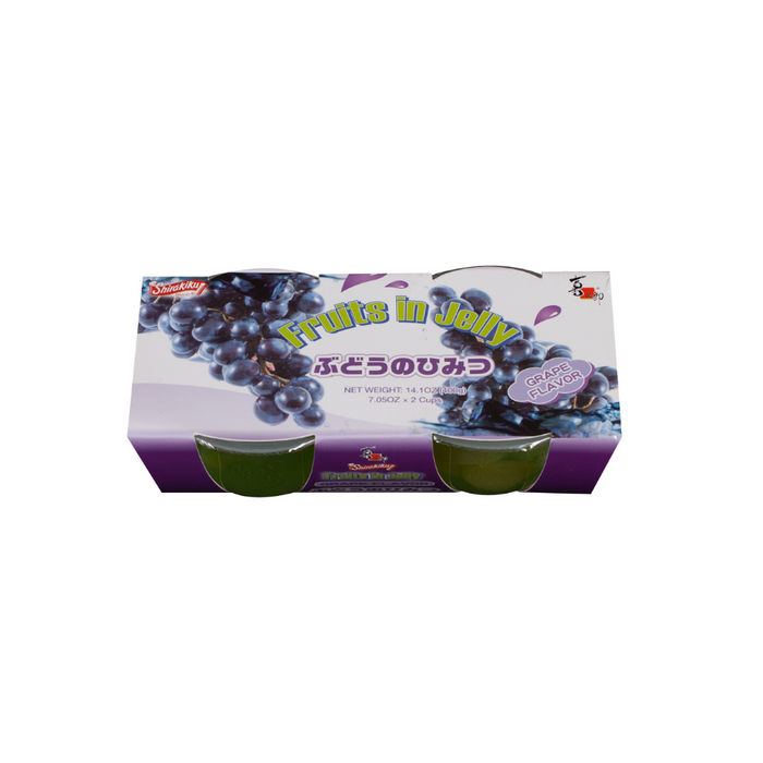 SHIRAKIKU FRUITS JELLY IN CUP GRAPE 200g