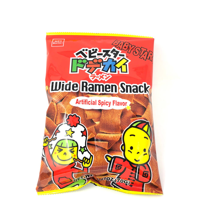 BABY STAR RAMEN SNACK  WIDE SPICY  2.47 OZ