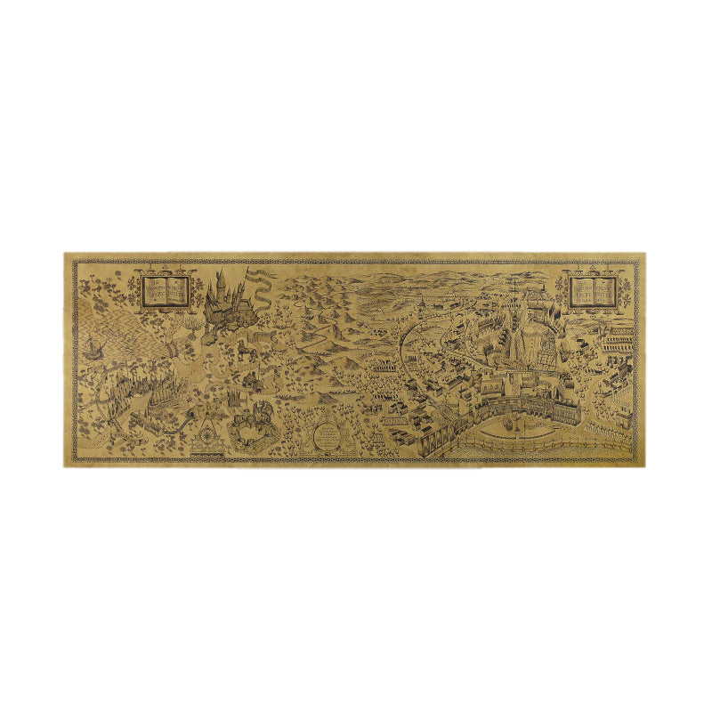 Harry Potter Magic World Map Kraft Paper Cafe Bar 72x26cm