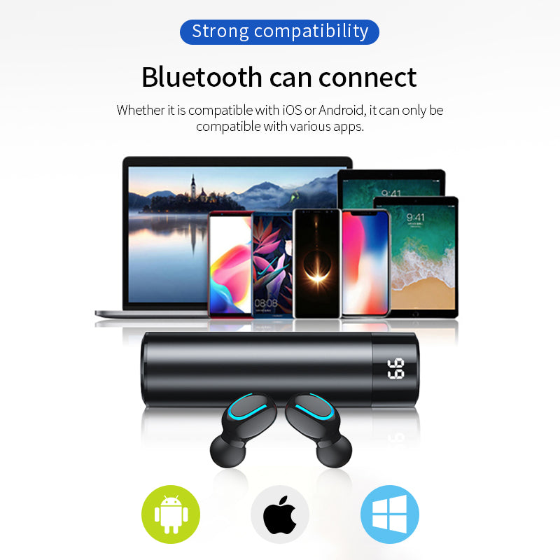 Wireless Earbuds 3D Stereo Mini Bluetooth Earphone 5.0