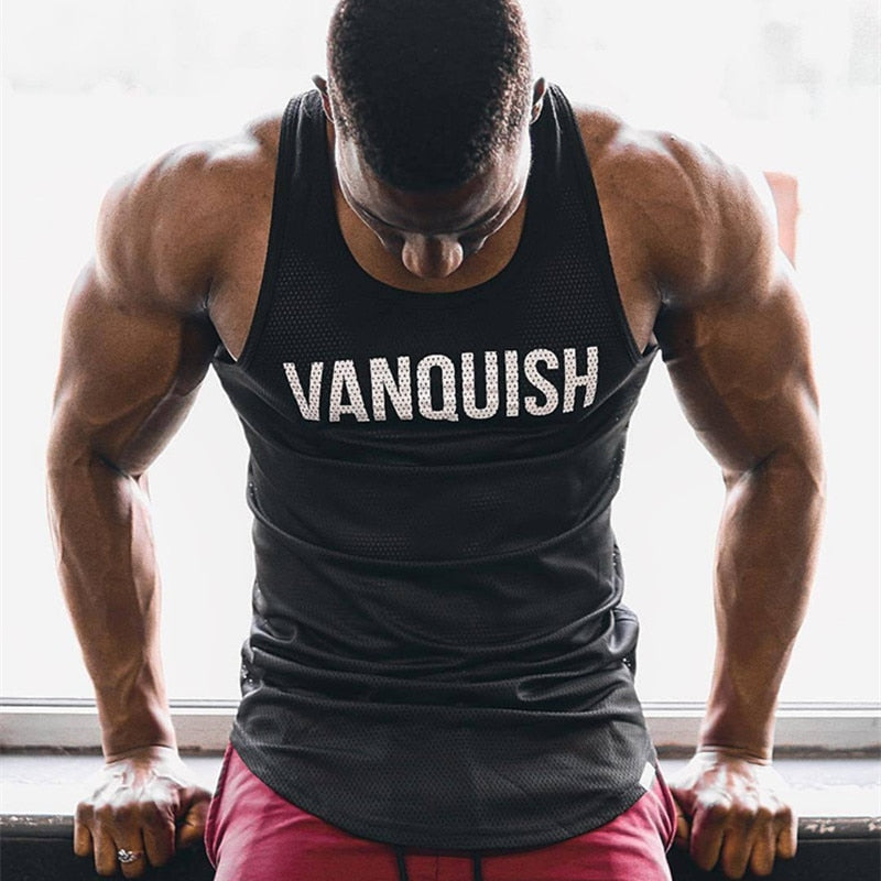 Summer Fitness Men Tank Top Mens Bodybuilding Stringers Tank Tops
