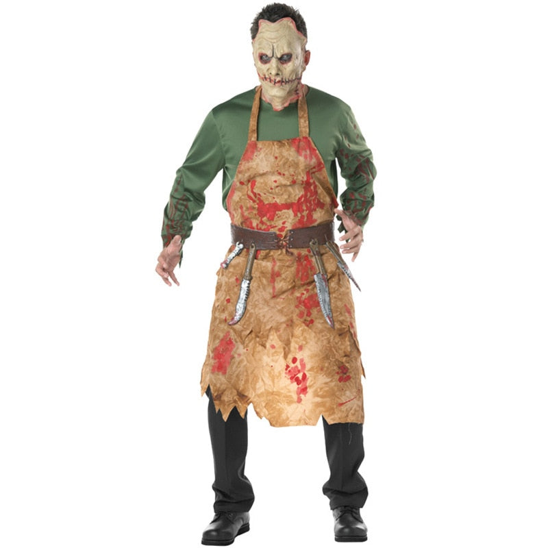 Halloween Costumes Bloody Butcher Clothes European And American Chefs