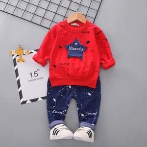Boys kids Costume Star camouflage Tracksuit Tops Pants 2PCS