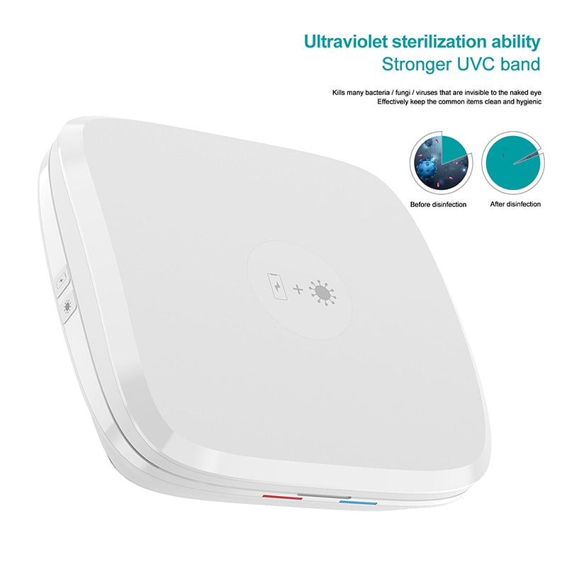 4 IN 1 5V Wireless Charger UV Sterilizer Disinfection Box