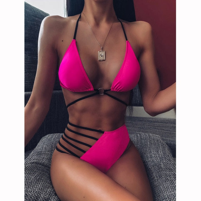 2020 Sexy Women High Waist Bikini Swimsuit