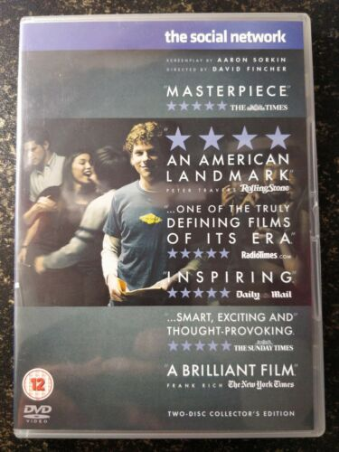 The Social Network 2 Disc Collectors Edition DVD 2011 DVD